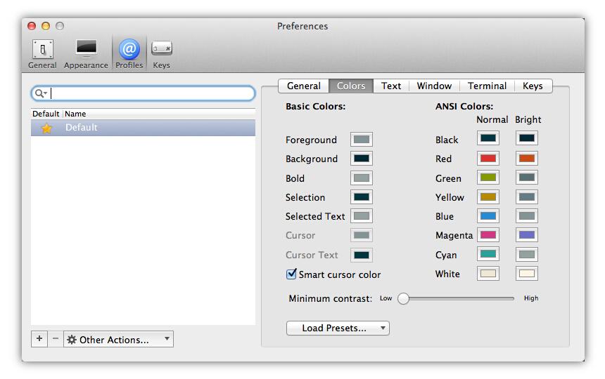 选择 iTerm2 配色方案